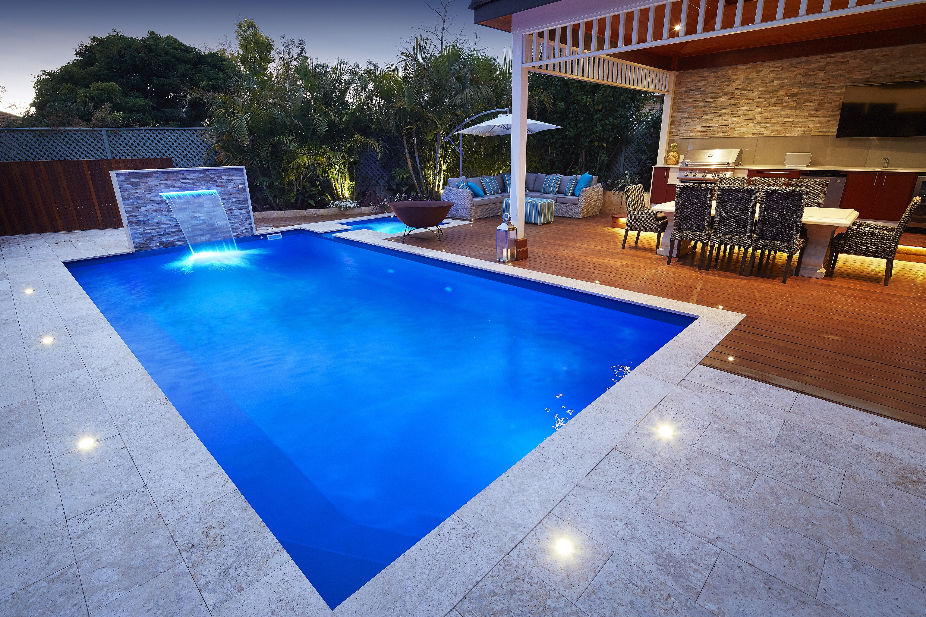 Endless swimming pool and spa combo for Spa and pool
